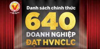 640 doanh nghiệp được bình chọn Hàng Việt Nam chất lượng cao 2018