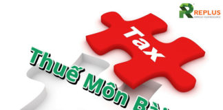 thuế môn bài doanh nghiệp 2018