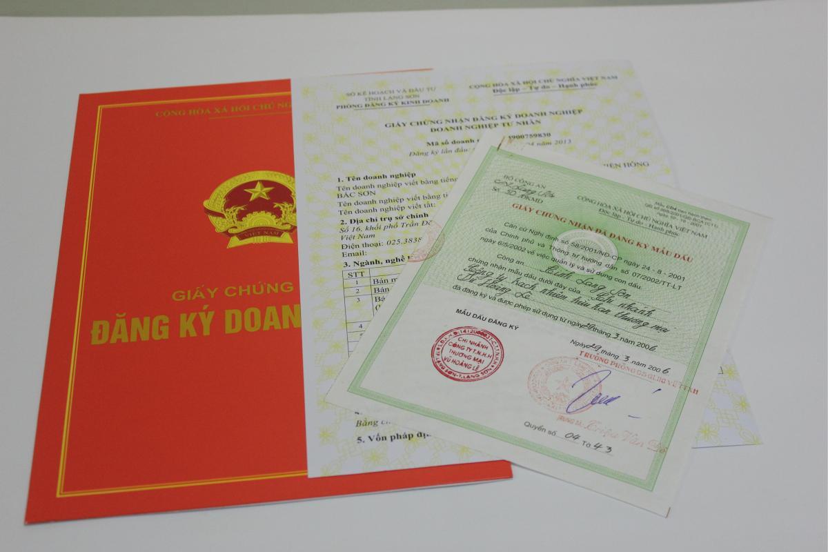 giấy chứng nhận đăng ký thành lập doanh nghiệp