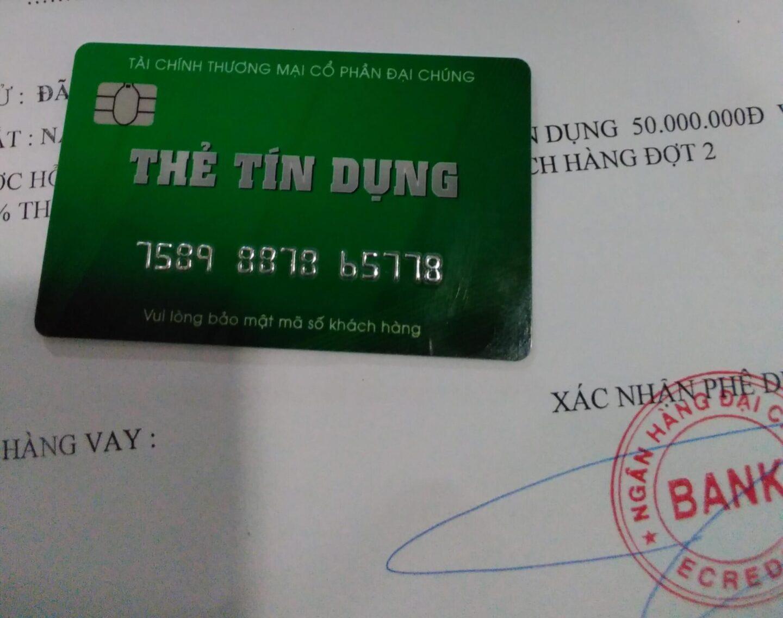 Hồ sơ mở thẻ tín dụng